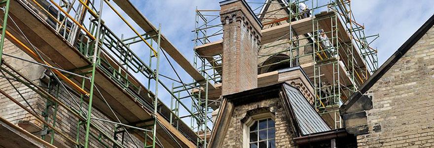 Travaux de restauration de patrimoine